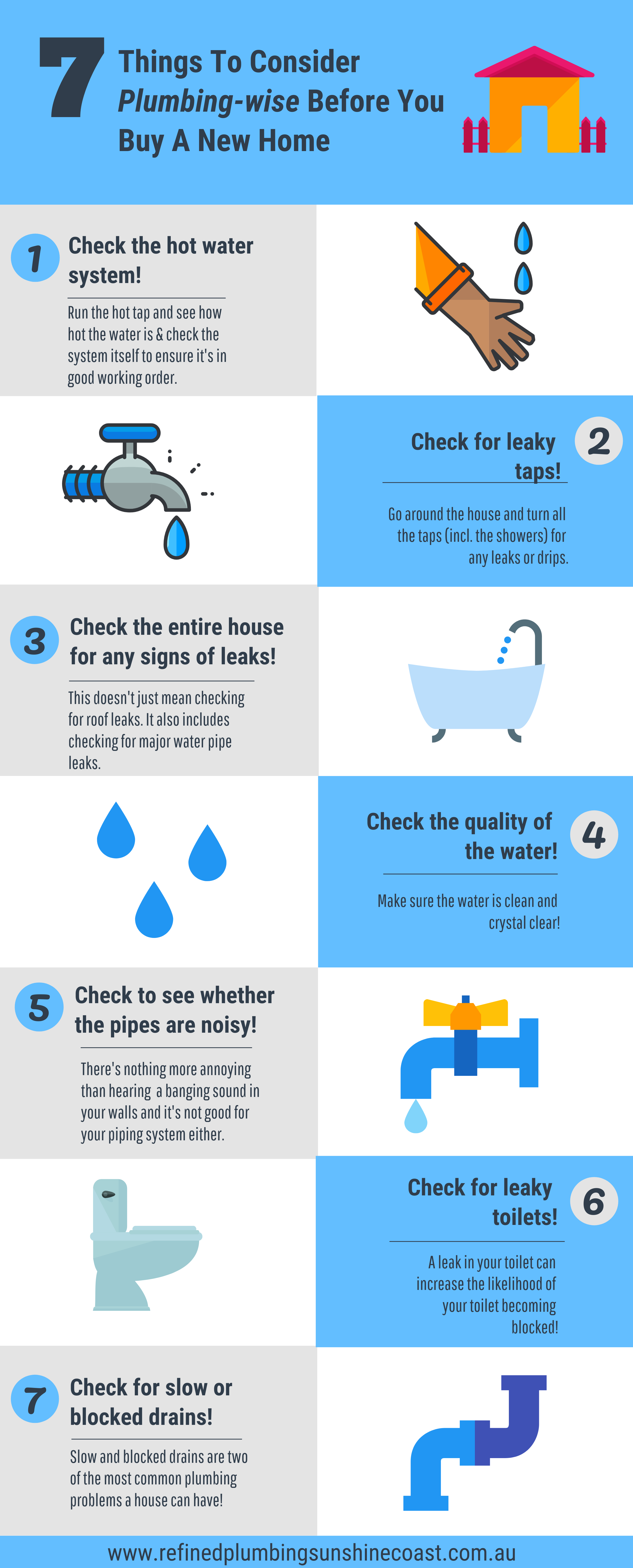 7 plumbing things to check before you purchase a new home