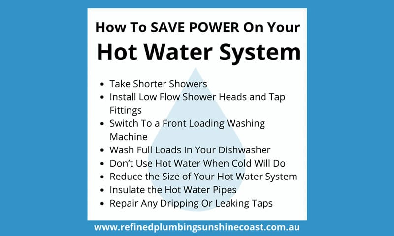 How To Save Power On Your Hot Water System