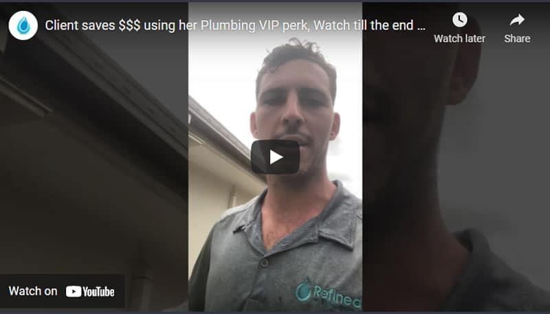 Client Saves Dollars using VIP Plumbing Program